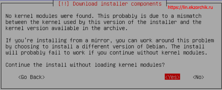 No kernel modules were found
